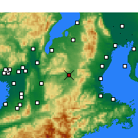 Nearby Forecast Locations - Ueno - карта