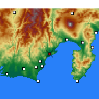 Nearby Forecast Locations - Сидзуока - карта