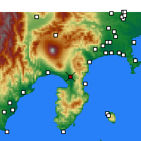 Nearby Forecast Locations - Мисима - карта