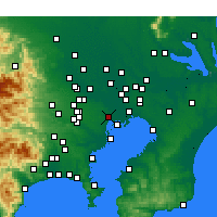 Nearby Forecast Locations - Токио - карта