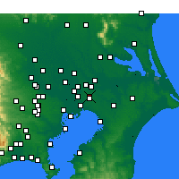 Nearby Forecast Locations - Shimofusa - карта