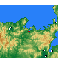Nearby Forecast Locations - Майдзуру - карта