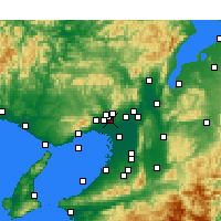 Nearby Forecast Locations - аэропорт Осака - карта