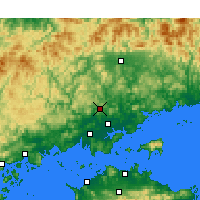 Nearby Forecast Locations - Okayama Аэропорт - карта