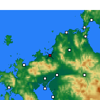 Nearby Forecast Locations - Фукуока - карта