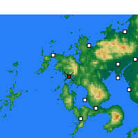 Nearby Forecast Locations - Сасебо - карта