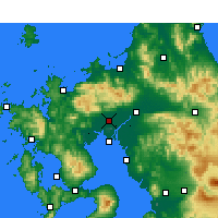 Nearby Forecast Locations - Сага - карта