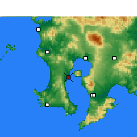 Nearby Forecast Locations - Кагосима - карта