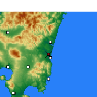 Nearby Forecast Locations - Миядзаки - карта