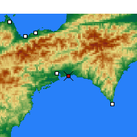Nearby Forecast Locations - Kōchi Аэропорт - карта