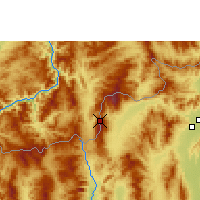 Nearby Forecast Locations - Doi Ang Khang - карта