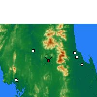 Nearby Forecast Locations - Chawang - карта