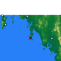 Nearby Forecast Locations - Ko Lanta - карта