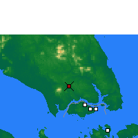 Nearby Forecast Locations - Johore Bharu/Senai - карта