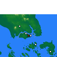 Nearby Forecast Locations - Singapur/Paya - карта