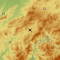 Nearby Forecast Locations - Hunjiang - карта