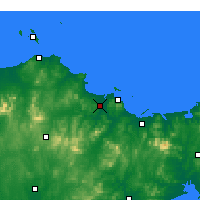 Nearby Forecast Locations - Fushan - карта
