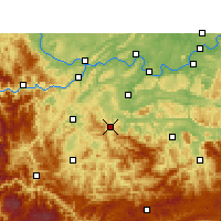 Nearby Forecast Locations - Gong Xian/SCH - карта