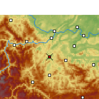 Nearby Forecast Locations - Gao Xian - карта