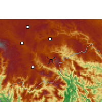Nearby Forecast Locations - Malipo - карта