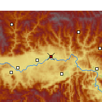 Nearby Forecast Locations - Yang Xian - карта