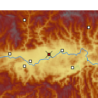 Nearby Forecast Locations - Chenggu - карта
