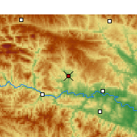 Nearby Forecast Locations - Yunxi - карта
