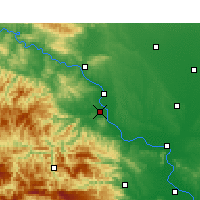 Nearby Forecast Locations - Gucheng - карта