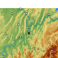 Nearby Forecast Locations - Ba Xian - карта