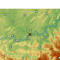 Nearby Forecast Locations - Лучжоу - карта