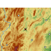 Nearby Forecast Locations - Xiushan - карта