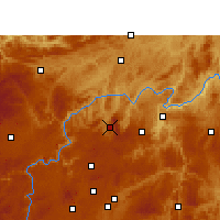 Nearby Forecast Locations - Xifeng/GZH - карта