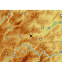 Nearby Forecast Locations - Zhenyuan/GZH - карта