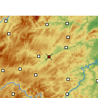 Nearby Forecast Locations - Yuping - карта