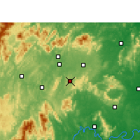Nearby Forecast Locations - Dongkou - карта