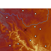 Nearby Forecast Locations - Liuzhi - карта
