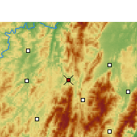 Nearby Forecast Locations - Suining/HUN - карта