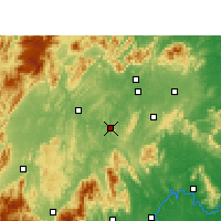 Nearby Forecast Locations - Shaoyang Xian - карта
