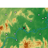 Nearby Forecast Locations - Qiyang - карта