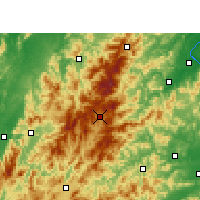 Nearby Forecast Locations - Guidong - карта