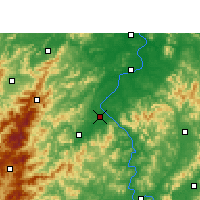 Nearby Forecast Locations - Wan'an - карта