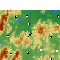 Nearby Forecast Locations - Shuangpai - карта