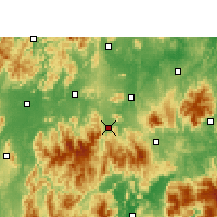 Nearby Forecast Locations - Lanshan - карта