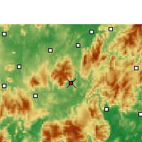Nearby Forecast Locations - Yizhang - карта