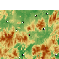 Nearby Forecast Locations - Linwu - карта