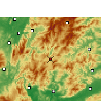 Nearby Forecast Locations - Rucheng - карта