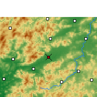 Nearby Forecast Locations - Nanxiong - карта