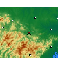 Nearby Forecast Locations - Huoshan - карта
