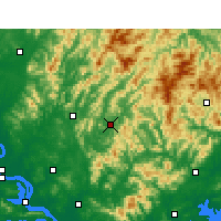 Nearby Forecast Locations - Yingshan/HUB - карта