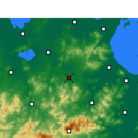 Nearby Forecast Locations - Guangde - карта